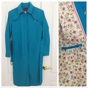 Cole Haan Turquoise Trenchcoat